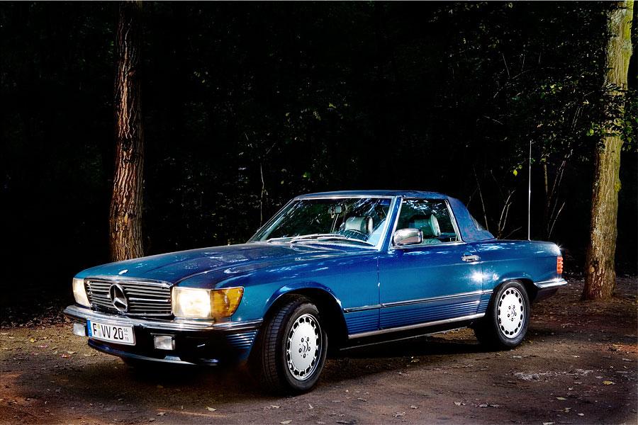 Mercedes SL, Baujahr 1989.